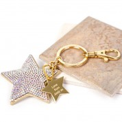 Sparkly Personalised Star Keyring