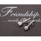 4mm Friendship Knot Earrings